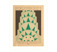 Chrysler Building - 1930 (Green) Art Print
