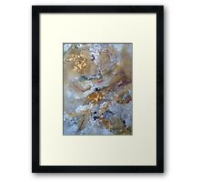 Pink ribbon hiding under pond surface Framed Print