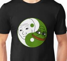 Yin Yang Pepe and Feels Unisex T-Shirt