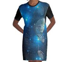 blue bruxa Graphic T-Shirt Dress
