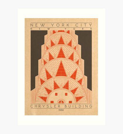 Chrysler Building - 1930 (Orange) Art Print