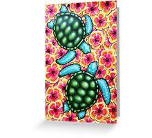 Hibiscus Sea Greeting Card