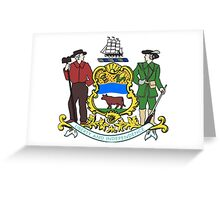 Coat of Arms of Delaware  Greeting Card