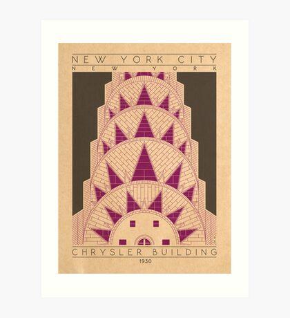 Chrysler Building - 1930 (Purple) Art Print