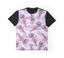 Purple Hologram Remixed Graphic T-Shirt