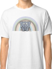 Cool Funny Cartoon Elephant Rainbow Cute Design Classic T-Shirt