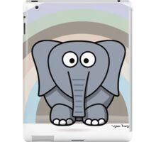 Cool Funny Cartoon Elephant Rainbow Cute Design iPad Case/Skin