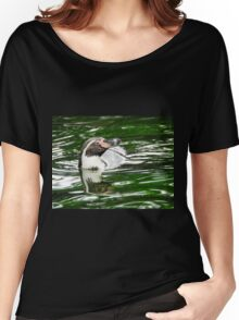 Penguin in emerald water Women's Relaxed Fit T-Shirt