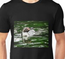 Penguin in emerald water Unisex T-Shirt