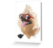 Pug Swagger Greeting Card