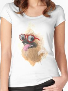 Pug Swagger Women's Fitted Scoop T-Shirt