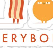 Everybody Loves Bacon Sticker