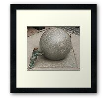 Stone ball Framed Print