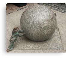 Stone ball Canvas Print