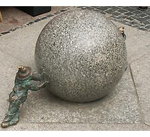 Stone ball Photographic Print