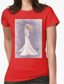 Lady in White Womens Fitted T-Shirt