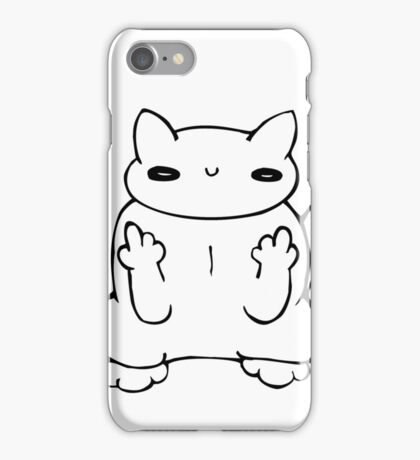witty kitty iPhone Case/Skin