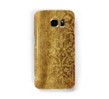 Rustic,gold,damasks,pattern,grunge,worn,authentic,vintage,damask,elegant,chic Samsung Galaxy Case/Skin