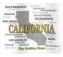 California State Pride Map Silhouette  Poster
