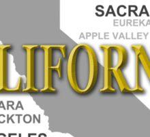 California State Pride Map Silhouette  Sticker