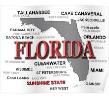 Florida State Pride Map Silhouette  Poster