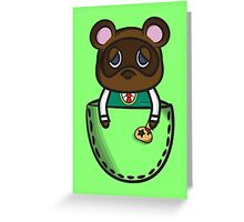Pocket Tom Nook Greeting Card
