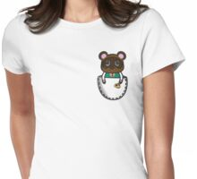 Pocket Tom Nook Womens Fitted T-Shirt