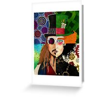 Johnny Depp Character Collage Greeting Card