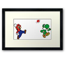 Pokemon Bross Framed Print