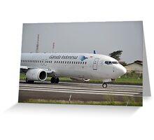 Garuda Indonesia airline Greeting Card