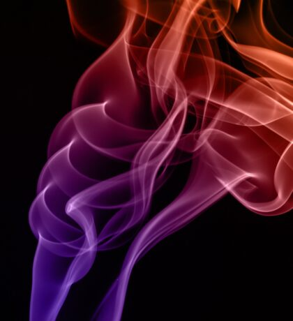 Smoke compositions in orange blue and pink Sticker