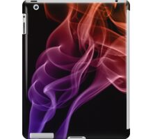 Smoke compositions in orange blue and pink iPad Case/Skin