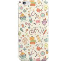 Cute traveling pattern iPhone Case/Skin