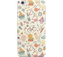 Cute traveling pattern iPhone Case/Skin