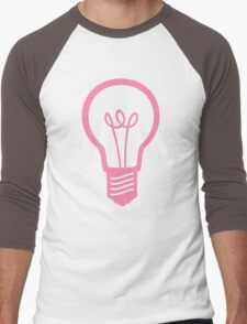 Pink Light Bulb Men's Baseball ¾ T-Shirt