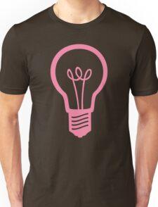 Pink Light Bulb Unisex T-Shirt