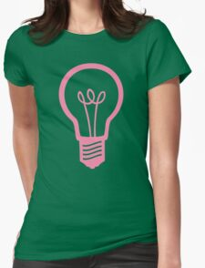 Pink Light Bulb Womens Fitted T-Shirt