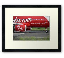 Air Asia airplane Framed Print