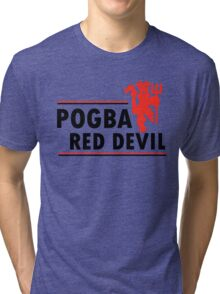 Paul Pogba - Red Devil Tri-blend T-Shirt