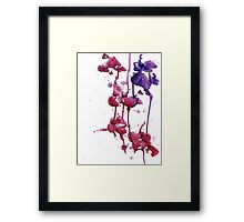 Dripping Orchids Framed Print