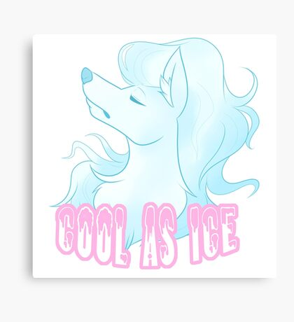 Cool as Ice Type Canvas Print