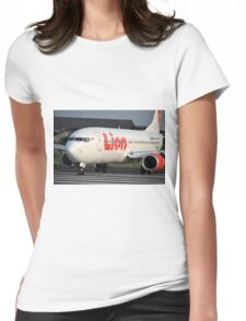 Lion Air airplane Womens Fitted T-Shirt