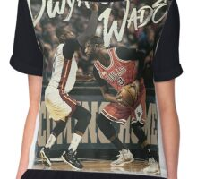 Dwyane Wade Miami to Chicago Basketball Artwork Chiffon Top