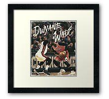 Dwyane Wade Miami to Chicago Basketball Artwork Framed Print