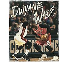 Dwyane Wade Miami to Chicago Basketball Artwork Photographic Print