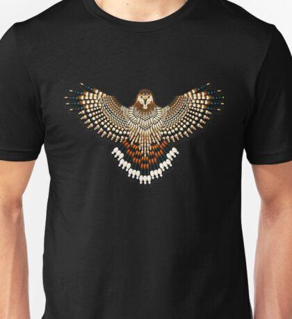 Beadwork Red-Tail Hawk Unisex T-Shirt