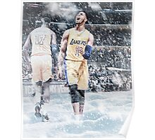 D'Angelo Russell Ice In My Veins Basketball Artwork Los Angeles Poster