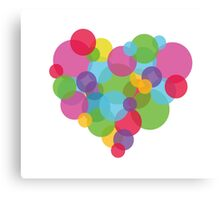 Bubble Heart Canvas Print