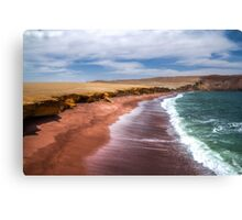 Red beach peru Canvas Print