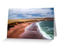 Red beach peru Greeting Card